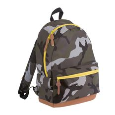 Рюкзак PULSE, камуфляж/желтый, полиэстер 600D, 42х30х13 см, V16 литров фото