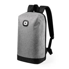 Рюкзак со световым индикатором Krepak, серый меланж/ черный фото