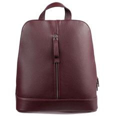 Рюкзак женский кожаный Eleganza, бордовый фото