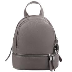 Рюкзак женский кожаный Tesoro, серый фото