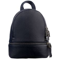 Рюкзак женский кожаный Tesoro, темно-синий фото
