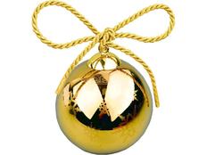 Шар елочный Gold рождественский, золотой фото