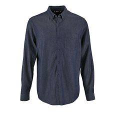 Рубашка мужская Sol's Barry Men, синяя (деним) фото