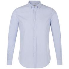 Рубашка мужская Sol's Beverly Men, белая с синим фото