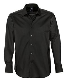 Рубашка мужская Sol's Brighton 140, черная фото