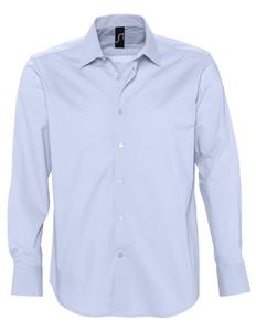Рубашка с длинным рукавом мужская Sol's Brighton, голубая фото