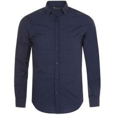 Рубашка мужская Sol's Becker Men, темно-синяя/ белая фото