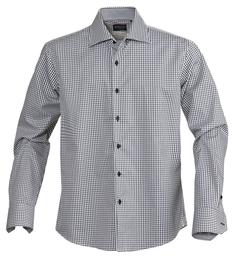 Рубашка в клетку мужская James Harvest Tribeca, черная фото