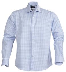 Рубашка в клетку мужская James Harvest Tribeca, голубая фото
