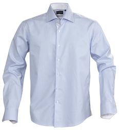 Рубашка в полоску мужская James Harvest Reno, голубая фото