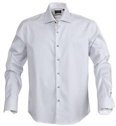 Рубашка в полоску мужская James Harvest Reno, серая фото
