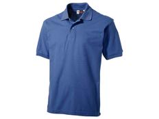 Футболка поло мужская US Basic Boston, светло-синяя фото