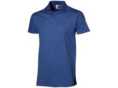 Футболка поло мужская US Basic First, синяя фото