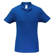 Футболка поло мужская B&C ID.001, ярко-синяя фото