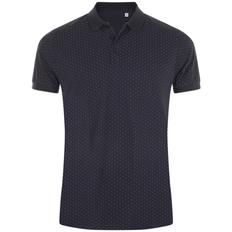 Рубашка поло мужская Sol's Brandy Men, темно-синяя / белая фото