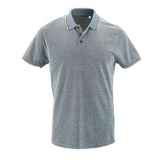 Рубашка поло мужская Sol's Paname Men, голубой меланж фото