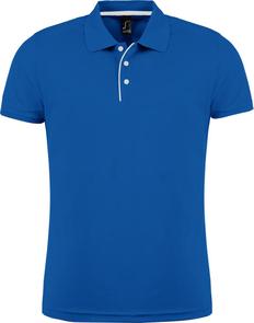 Рубашка поло мужская Sol's Performer Men 180, ярко-синяя фото