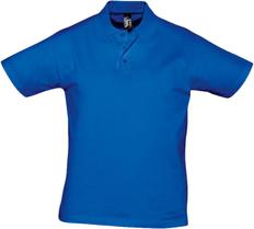 Рубашка поло мужская Sol's Prescott Men 170, ярко-синяя фото