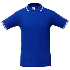 Футболка поло мужская Unit Virma Stripes, ярко-синяя фото