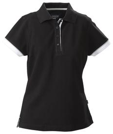Рубашка поло женская James Harvest Antreville, черная фото