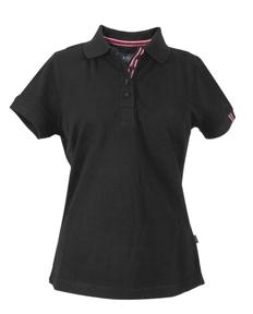 Рубашка поло женская James Harvest Avon Ladies, черная фото