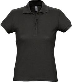 Рубашка поло женская Sol's Passion 170, черная фото
