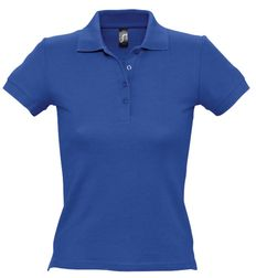 Рубашка поло женская Sol's People 210, ярко-синяя фото