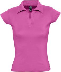 Рубашка поло женская Sol's Pretty 220, ярко-розовая фото