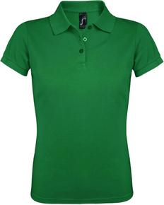 Рубашка поло женская Sol's Prime Women 200, ярко-зеленая фото