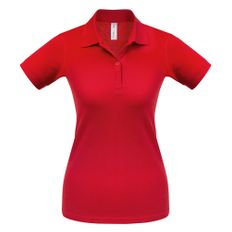 Футболка поло женская B&C Safran Pure, размер M, красная фото