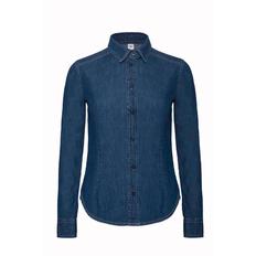 Рубашка женская B&C DNM Vision women, синяя фото