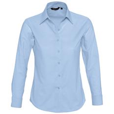 Рубашка с длинным рукавом женская Sol's Embassy, голубая фото