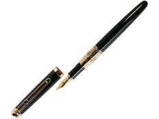 Ручка перьевая William Lloyd, черная/ золотая фото