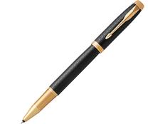 Ручка-роллер металлическая Parker IM Premium Black GT, чёрная / золотая фото