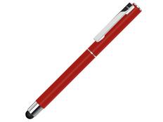 Ручка-роллер металлическая со стилусом Uma Straight Si R Touch, красная фото
