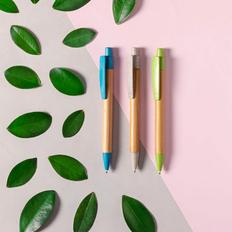 Ручка шариковая деревянная Sydor, черная фото