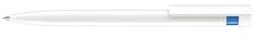 Ручка шариковая Senator Liberty Basic Polished, белая/синяя фото