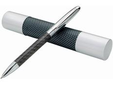 Ручка шариковая металлическая Avenue Winona, черная / серая фото