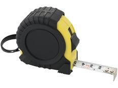 Рулетка, 5м, черный/ желтый фото