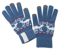 Перчатки для сенсорных экранов Raindeer, синие фото