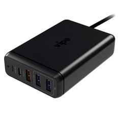 Зарядное устройство сетевое на 4 порта Vipe Power Station, черный фото