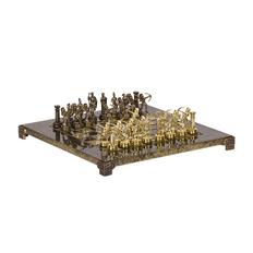 Шахматы Греческие лучники, золотой фото