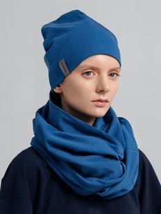 Шапка двухслойная Vozduh, синяя фото