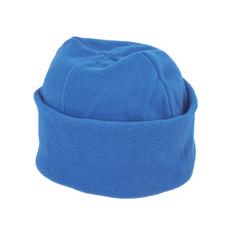 Шапка флисовая, синяя фото