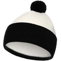 Шапка Teplo Snappy, белая / черная фото