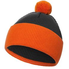 Шапка Teplo Snappy, темно-серая / оранжевая фото