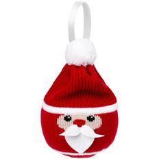 Шар елочный «Дед Мороз», красный фото