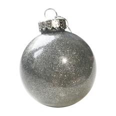 Шар новогодний FLICKER, диаметр 8 см, пластик, серебро фото