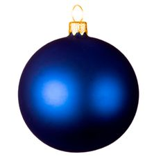 Шар новогодний Matt, синий фото