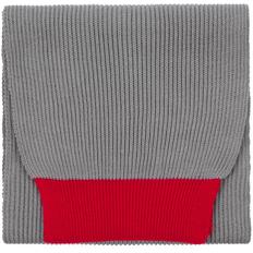 Шарф Teplo Snappy, светло-серый / красный фото